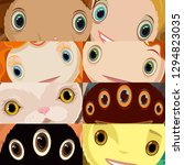 Vector Set Of Different Eyes