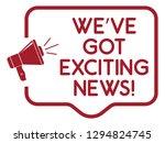 we've got exciting news... | Shutterstock .eps vector #1294824745