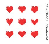heart icon collection  love... | Shutterstock .eps vector #1294837132