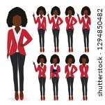 business african american woman ...   Shutterstock .eps vector #1294850482