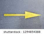 right arrow yellow on a road in ...   Shutterstock . vector #1294854388