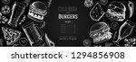 pub food menu. beer and burgers ... | Shutterstock .eps vector #1294856908