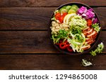 buddha bowl dish. healthy...   Shutterstock . vector #1294865008