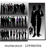people | Shutterstock .eps vector #129486506