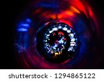 sports car drives fast at night ... | Shutterstock . vector #1294865122