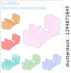 zambia sketchy country.... | Shutterstock .eps vector #1294871845