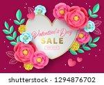 valentine's day sale banner... | Shutterstock .eps vector #1294876702