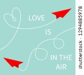 love is in the air. two red... | Shutterstock .eps vector #1294885978