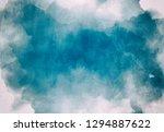 abstract watercolor digital art ... | Shutterstock . vector #1294887622