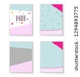 birthday invitation template .. ... | Shutterstock .eps vector #1294893775
