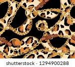 seamless baroque vector pattern ... | Shutterstock .eps vector #1294900288