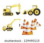 illustration of construction... | Shutterstock .eps vector #129490115