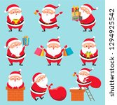 cartoon santa character.... | Shutterstock . vector #1294925542