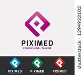 p letter pixel logo | Shutterstock .eps vector #1294933102