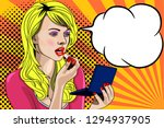 beautiful girl on a bright... | Shutterstock .eps vector #1294937905