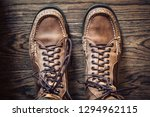 leather moccasin boots | Shutterstock . vector #1294962115