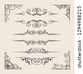 calligraphic borders  patterns  ... | Shutterstock .eps vector #1294988215