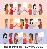 group of women characters with... | Shutterstock .eps vector #1294989832