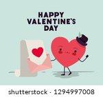 heart love kawaii character | Shutterstock .eps vector #1294997008