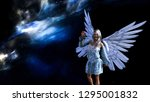 3d illustration of a winged... | Shutterstock . vector #1295001832