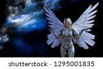 3d illustration of a winged... | Shutterstock . vector #1295001835