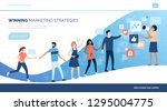winning customers with... | Shutterstock .eps vector #1295004775