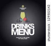 drinks menu card design...   Shutterstock .eps vector #129502142