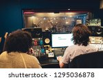 engineer and artist in music... | Shutterstock . vector #1295036878