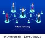 isometric referral marketing ... | Shutterstock .eps vector #1295040028