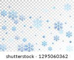 crystal snowflake and circle... | Shutterstock .eps vector #1295060362