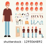 young man character ready for... | Shutterstock .eps vector #1295064892