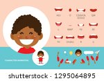 mouth animation set for... | Shutterstock .eps vector #1295064895