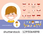mouth animation set for... | Shutterstock .eps vector #1295064898