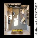 3d illustration of interior...   Shutterstock . vector #1295071882