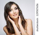 beauty smiling  woman face... | Shutterstock . vector #129507656
