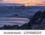 winter evening on lake baikal | Shutterstock . vector #1295088205