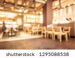 abstract blur coffee shop cafe...   Shutterstock . vector #1295088538