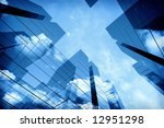 3d office towers | Shutterstock . vector #12951298