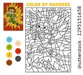 color by number  education game ... | Shutterstock .eps vector #1295151658