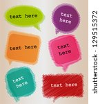 speech bubbles | Shutterstock .eps vector #129515372