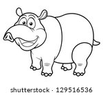 tapir and juvenile coloring pages - photo#25