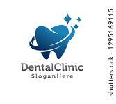 dental logo design. creative... | Shutterstock .eps vector #1295169115