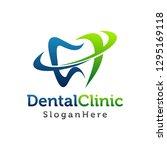 dental logo design. creative... | Shutterstock .eps vector #1295169118