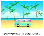 summer travel concept  vacation ... | Shutterstock . vector #1295186452