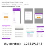 a set of vector ui design...