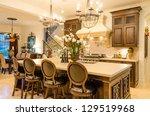 modern dining room in luxury... | Shutterstock . vector #129519968
