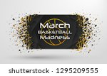 march madness basketball sport...   Shutterstock .eps vector #1295209555