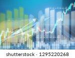 businessman on digital stock... | Shutterstock . vector #1295220268