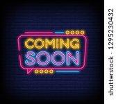 coming soon neon sign vector a... | Shutterstock .eps vector #1295230432