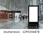 beautiful blank advertising... | Shutterstock . vector #1295246878